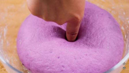1个紫薯,1碗面粉,教你做紫薯开花馒头,香甜可口,一次能吃5个!