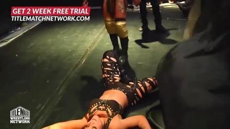 美国女子摔角 女子摔角 老姐拿喉咙顶板凳 胸口碎大石 绝技要被美国人学去