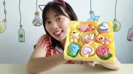 """美食拆箱:妹子吃""""情人节表白棉花糖"""",多彩颜值高,绵软味甜蜜"""