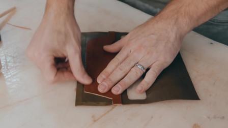 纯手工制作真皮钱包,这才是手艺人