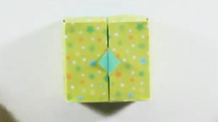 趣味创意小折纸:让我们制作简单的方形礼物盒吧!