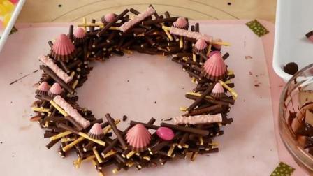 创意美食甜点 圣诞百奇花环