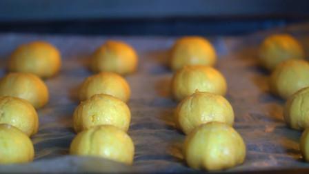 教你做超好吃的脆皮小泡芙,制作简单,一口一个吃得过瘾