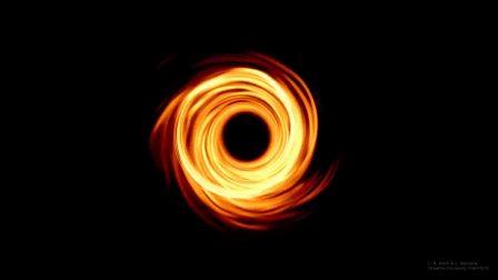 基于首张黑洞照片,模拟黑洞周围的磁流体,它像什么?