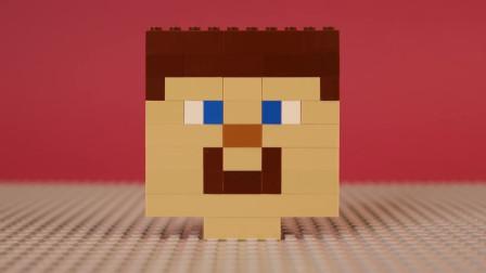 我的世界动画-搭个乐高史蒂夫头-Bricks Box
