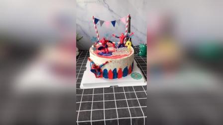 送个2岁的男宝宝生日蛋糕蜘蛛侠主题走一个, 谢谢老客户支持!