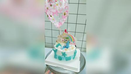 双面蛋糕, 一个男孩一个女孩过生日。