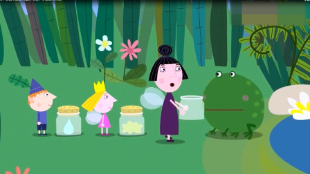 精灵保姆要收集青蛙打的嗝,怎么才能让青蛙打嗝呢,小公主有办法