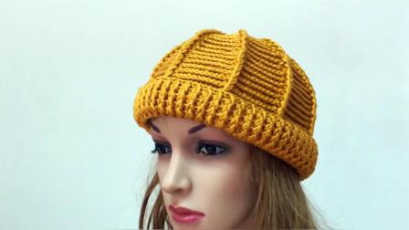 教你钩织英伦风卷边礼帽,含蓄优雅