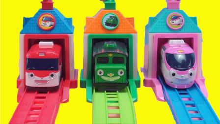 TITIPO迷你火车弹射组合玩具