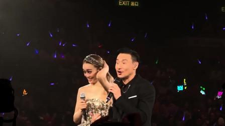 2019容祖儿演唱会,第一场与歌神张学友合唱《这么近那么远》