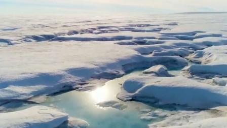 南极冰川融化后,科学家在南极东部冰川,发现大面积的冰坑!