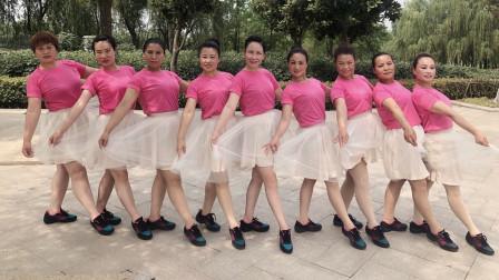 美久广场舞《春天的芭蕾》队型变换、舞台表演版附导师教学