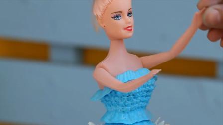 蛋糕还能这样玩?把它做成漂亮的芭比娃娃,公主裙是这样挤出来的