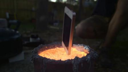 将手机放进高温铜水中,手机还能继续使用吗?网友:太浪费了!