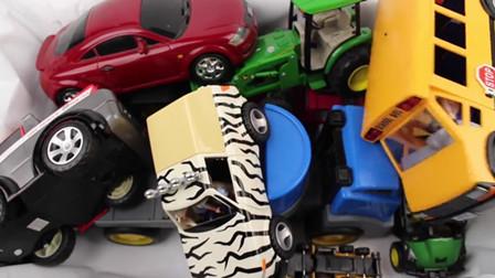 好大一堆玩具车 一起来认识下 汽车卡车吉普车SUV厢式货车