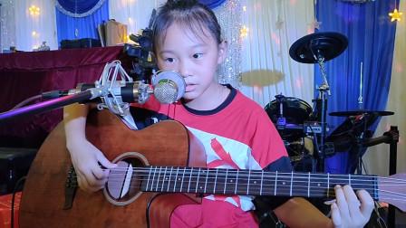 朱亿馨同学学习吉他视频《兰花草》