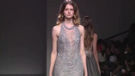 时尚走秀,这衣服的线条真是美,设计师的设计思想真前卫