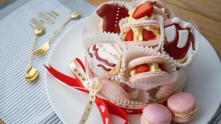 赶在七夕前,送你一份少女心爆棚的马卡龙蛋糕!