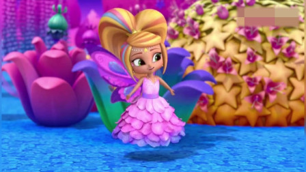亮亮和晶晶:松鼠送变小的莉亚她们回去月光树那里,太可爱了!