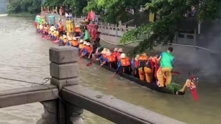 2019 黃埔南灣龍船到訪廟頭張 - 龍船探親