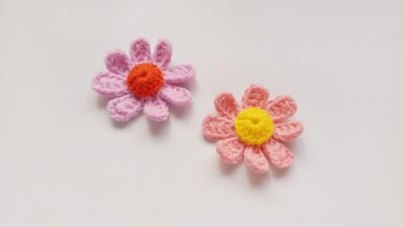 钩针编织装饰小花朵如夏风吹过花样清新迷人花样图片