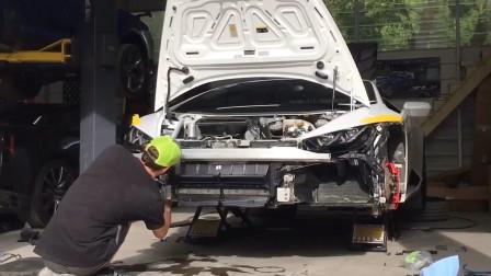 美国小伙维修兰博基尼终极篇,上路狂飙被警察警告,那么维修这辆跑车到底花了多少钱?