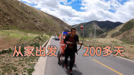 快手老铁,从家出发200多天,还没到拉萨!【骑行川藏纪录片-ep14】左贡-邦达丨骑行318攻略丨川藏线
