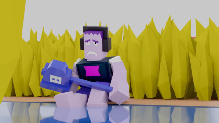 我的世界动画-荒野乱斗之里昂 VS 弗兰基-Clash toons