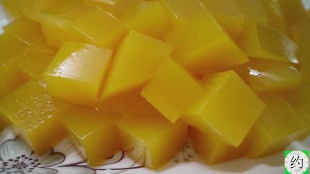 用芒果汁做的果冻布丁,做法简单颜色鲜艳,光看着就很有食欲