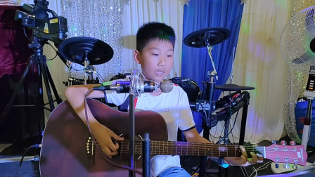 姚博文同学学习吉他表演视频《两只老虎》
