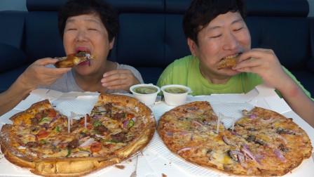 """韩国农村家庭的一顿饭:今天下大雨,点了妈妈最爱的食物""""披萨"""""""