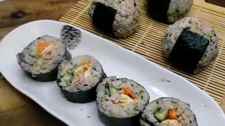 美味的金枪鱼紫菜包饭,做法简单,孩子的营养早餐