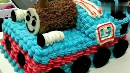 托马斯小汽车蛋糕,最后那个小鼻子绝了