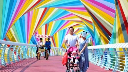 青岛又被爆一处网红桥,成打卡胜地,网友:实在是太好看了!