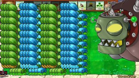 两种形态的西瓜投手交错进攻,巨人僵尸:我太难了