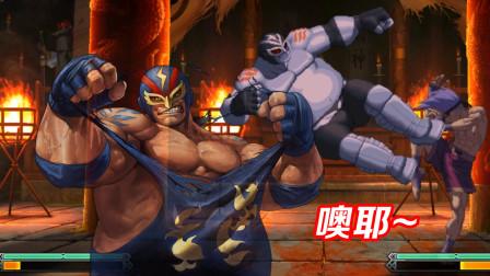拳皇13:雷电如果掌握了压键绝学,随时都有一脚超人的风采