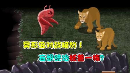 异形虫历险记:异形虫对战猎豹!妄想统治妖兽一族?