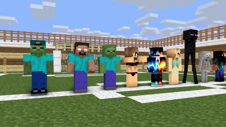 我的世界动画-怪物学院-夏日足球-Jolly Minecraft Animation