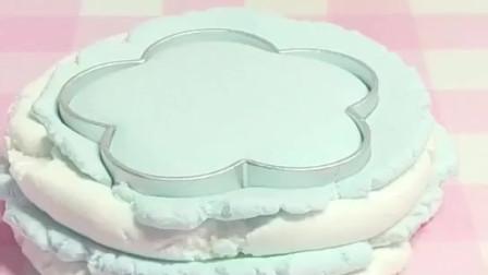 好玩的玩具:仿真蛋糕纸黏土作品梦幻水晶花朵蛋糕手工纸黏土