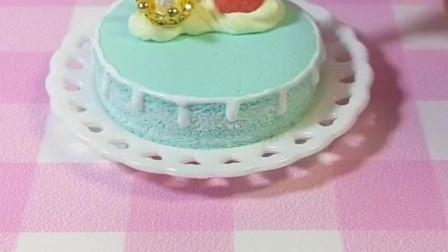 好玩的玩具:仿真食玩蛋糕薄荷味的夏天玩具手工超轻粘土日本食玩