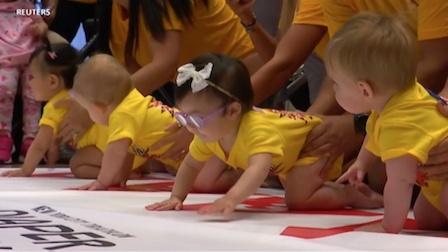 《走进美国》世界最慢赛跑竟是婴儿与蜗牛?