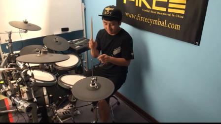 暑期架子鼓教学,喜欢架子鼓的你,一起敲起来吧,视频欣赏节选五
