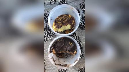 今天吃熙熙的古早味血糯米罐子, 黑芝麻蛋糕罐子