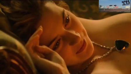 泰坦尼克号:杰克给露丝画写真,露丝心跳好快,是最放飞的时刻!