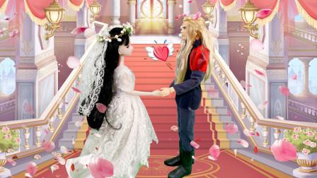 叶罗丽童话故事 金王子趁孔雀公主洗澡拿走她的衣服