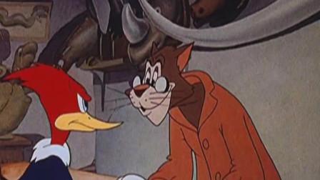 啄木鸟:伍迪还在想这个餐厅有没有什么好吃的,丝毫不知道自己身处危险之境