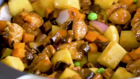 用电饭煲就可完成的香菇鸡肉饭