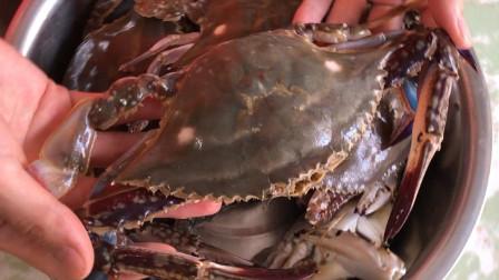 爱吃梭子蟹不会挑?老渔民教你3招挑螃蟹,保准个个鲜肥,不肥你找我!