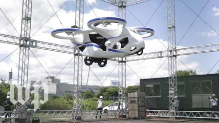 """日本NEC公开测试""""飞行汽车"""",空中能悬停1分钟,科幻电影既视感"""
